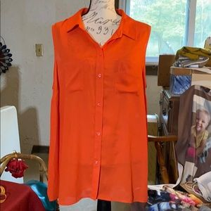 Apt.9 orange blouse